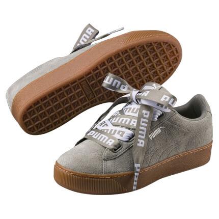 PUMA Vikky Platform Ribbon Turnschuhe Sneaker Schuhe, Größe:40