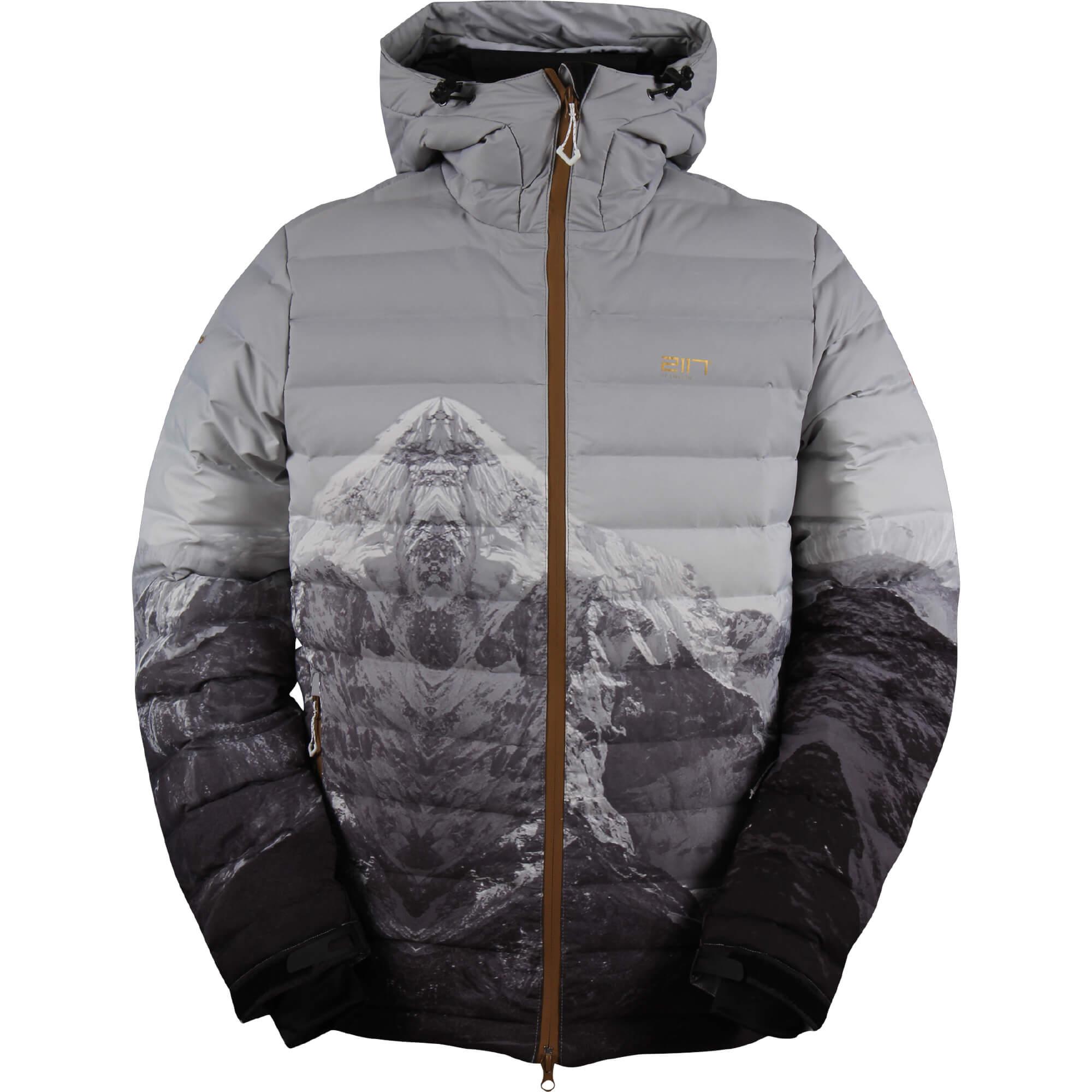 Image of 2117 of Sweden Eco Down Ski Jacket Mon Daunenjacke Gr L grau/schwarz